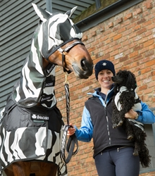 Bucas Buzz-Off Zebra fly mask flughuva